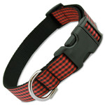 Buffalo Plaid Dog Collar, Red & Black gingham, Classic Flannel Check