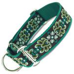 """designer damask 1.5"""" wide martingale collar"""