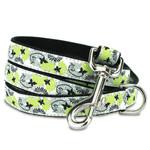 Black Butterfly Dog Leash, black nylon, 5 foot lengths