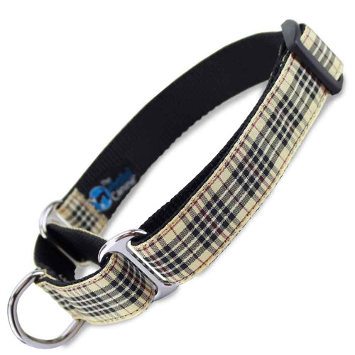 Furberry Martingale Dog Collar, Plaid tartan, Limited Slip Safety Collar