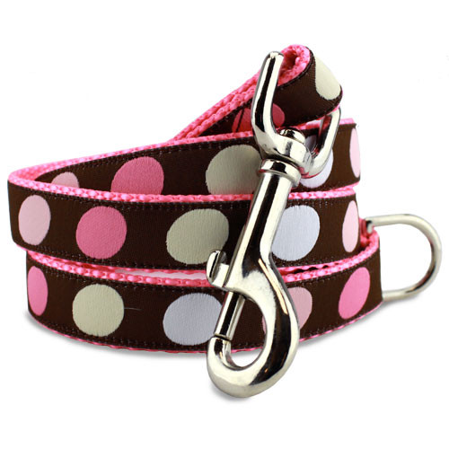 Pink Polka Dot Leash