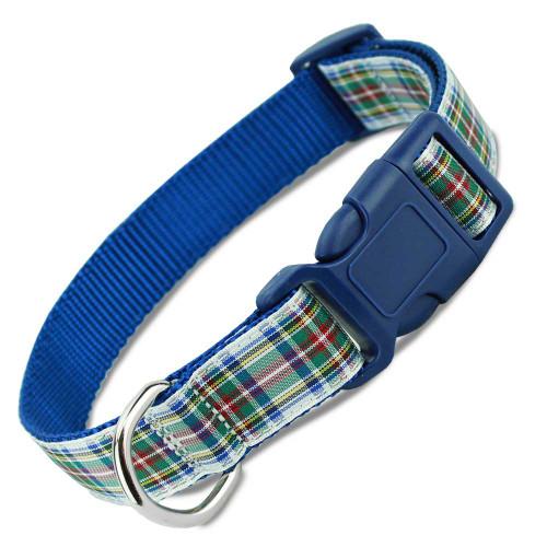 Plaid Dog Collar, Quick Release Snap On Style Buckle, Dress Stewart Tartan, Adjustable