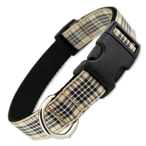 London Furberry dog collar, burberry tartan