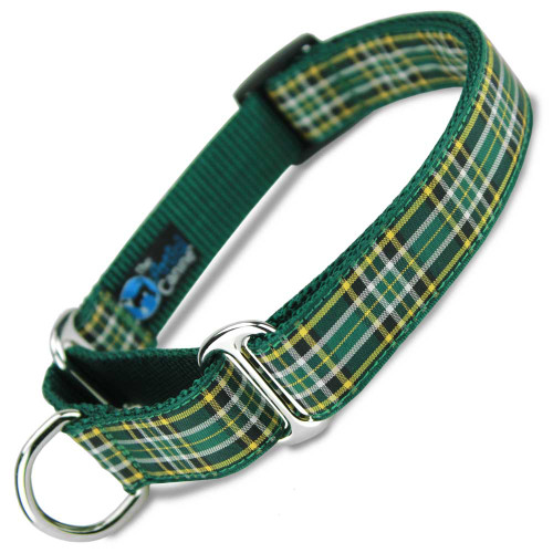 Plaid Martingale dog Collar, Irish National, Limited Slip, Safety Collar