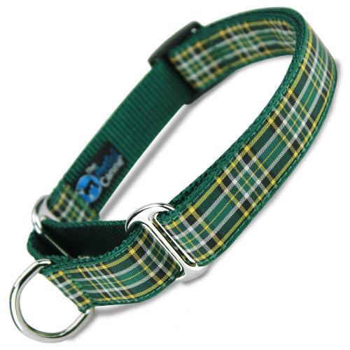 Plaid Martingale dog Collar, Irish National, Limited Slip, Safety Collar
