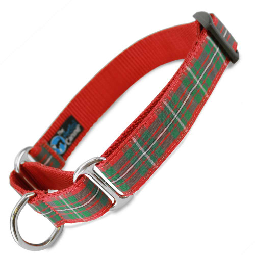 Holiday Martingale Dog Collar, Macgreggor Tartan, Limited Slip Safety Collar