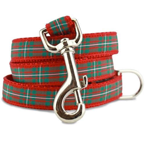 Holiday Plaid Dog Leash, Magreggor Tartan, 4', 5', 6' Long, D-ring, Nylon