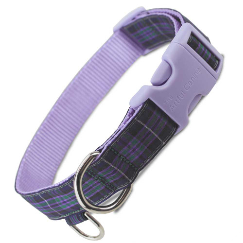 Custom quick release dog collar, Highland Pride tartan