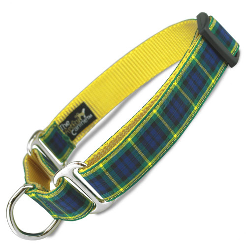 Plaid Martingale Dog Collar, Gordon Tartan, Safety Dog Collar, control dog collar