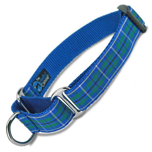 Plaid Martingale Dog Collar, Douglas Tartan, Training Dog Collar, Safety Collar