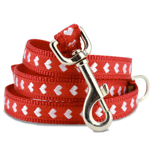 valentines dog leash