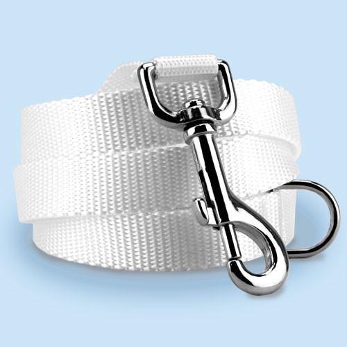 White Nylon Dog Leash