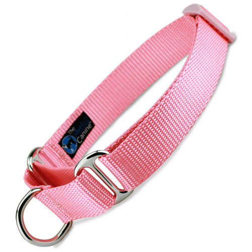 Pink Martingale Dog Collar, Nylon, Limited Slip Dog Collar, Safety Collar