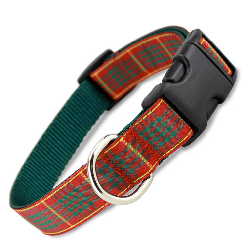 Holiday Plaid Dog Collar, Cameron Tartan