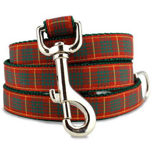 Plaid Dog Leash, Cameron Tartan, 4', 5', 6' Long, D-ring, Nylon