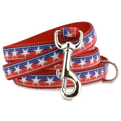 Patriotic Dog Leash, Stars & Stitches