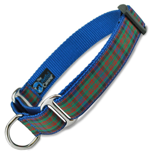 Plaid Martingale dog Collar,MacDonald Tartan, Limited Slip Safety Collar