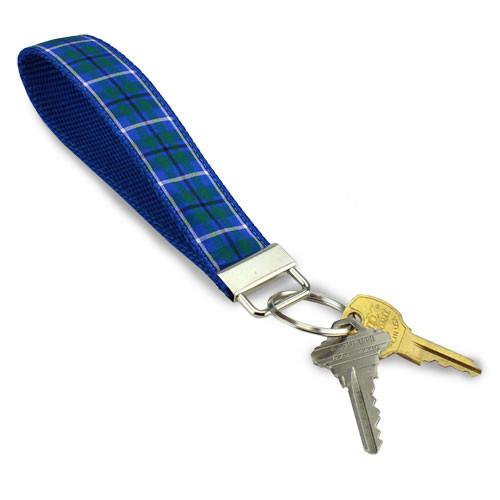 Douglas Plaid Key Ring, Wristlet