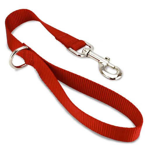 Short Traffic, City, Training Leash for Dogs, Red Nylon