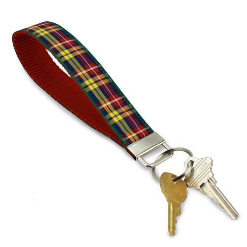 Buchanan Plaid Key Ring, Wristlet