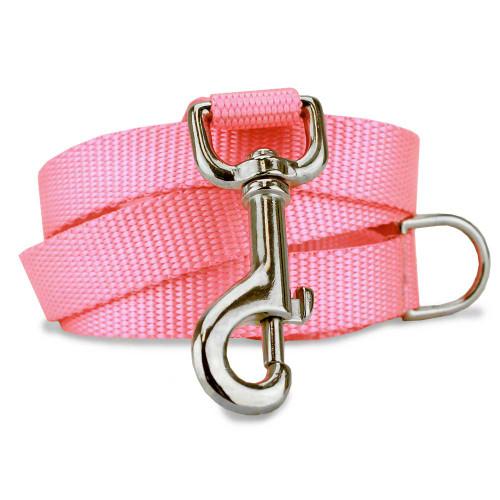 Pink Nylon Dog Leash