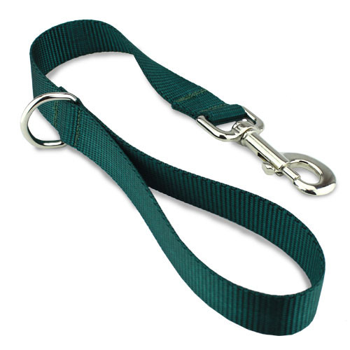 "Short Dog Leash, Traffic Lead, City Leash, 18"" long, Green"