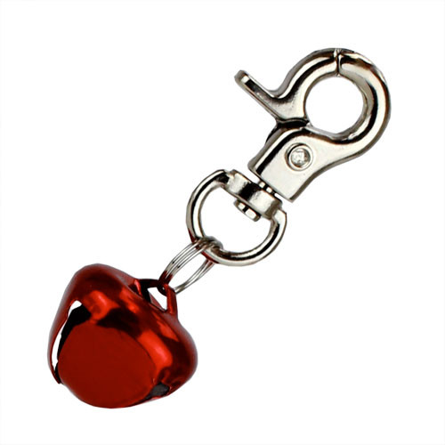 Red Bell Dog Charm