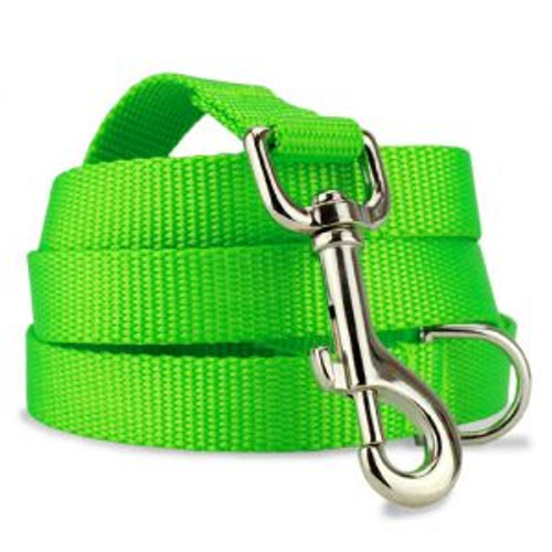 Lime Green Nylon Dog Leash