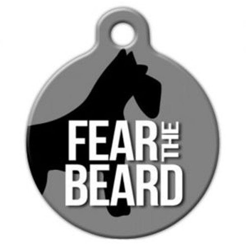 Schnauzer Dog ID Tag, Fear the Beard