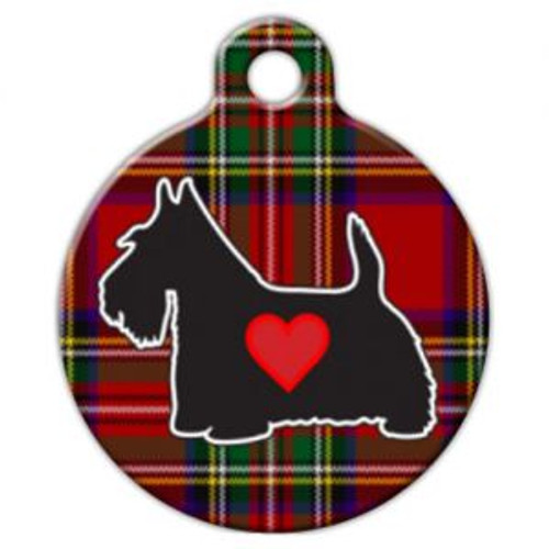 Scottish Dog ID Tag, Scottish Terrier Dog ID Tag