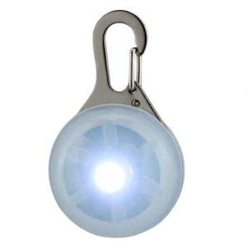 White LED Dog Tag, dog collar light