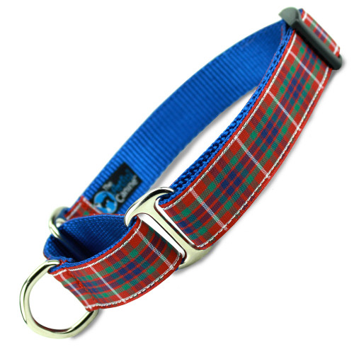 Plaid Martingale dog Collar, Frazer Tartan, Limited Slip Safety Collar