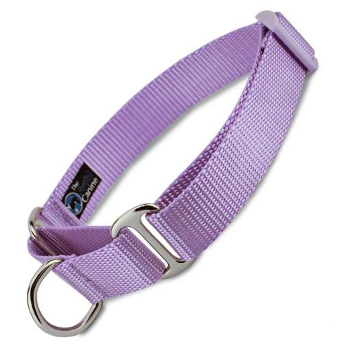 Lavender Martingale dog Collar, Nylon, Limited Slip Safety Collar