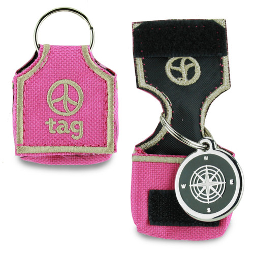 Front of id tag pouch, keeper, silencer