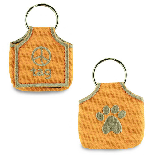 Dog ID Tag Silencer, Keeper, Orange