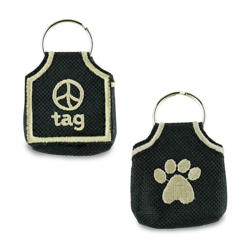 id tag pouch, keeper, silencer