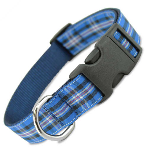Rangers Plaid Dog Collar