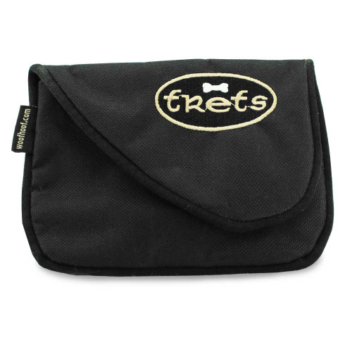 Dog treat pouch bag, front, black