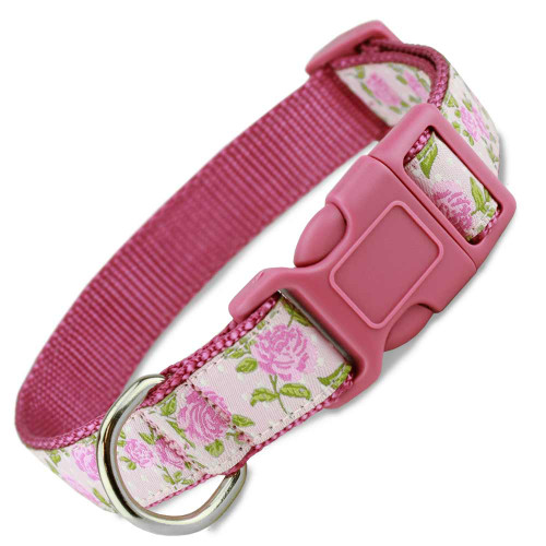 Pink Dog Collar, Roses, Floral, Flower