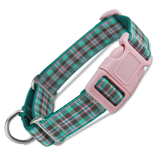Buckle Martingale Dog Collar, Martingale collar with quick release buckle, snap on safety collar