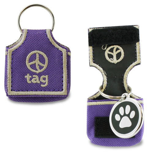 Dog tag silencer, stops tags from making noise, ID tag pouch