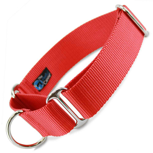 "Red 1.5"" Wide Nylon Martingale Collar"