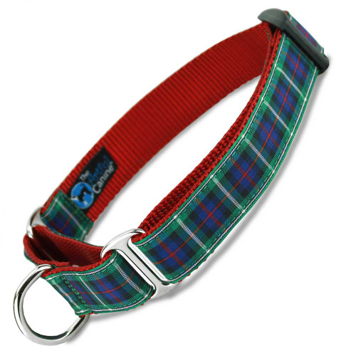 Plaid Martingale dog Collar, MacKenzie Tartan, Limited Slip Safety Collar