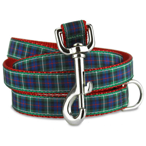 MacKenzie tartan Dog Leash, plaid 5 foot Dog Leash