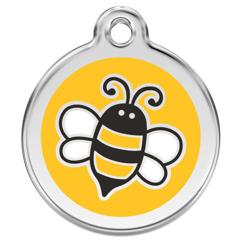 Yellow Bumble Bee Dog ID Tag