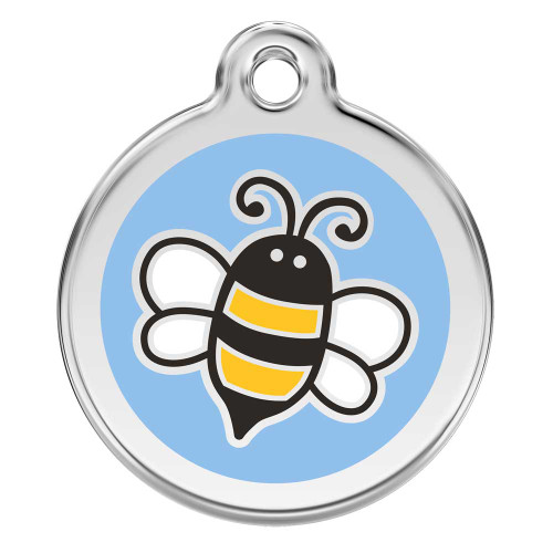 Bumble Bee Dog ID tag, blue