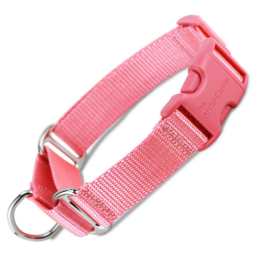 Pink Martingale Dog Collar with Buckle