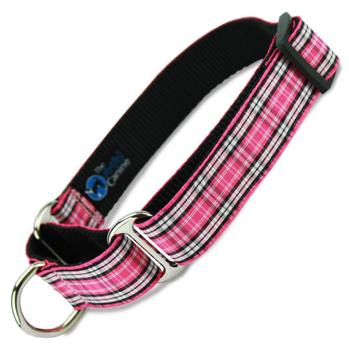 Pink Plaid Martingale Collar