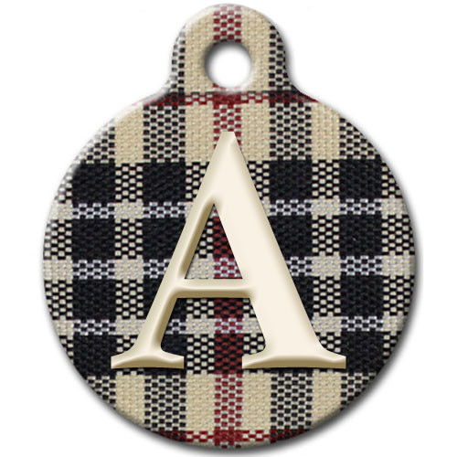 Furberry Dog ID Tag with Monogram