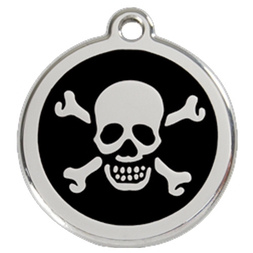 Skull Dog ID Tag, Black